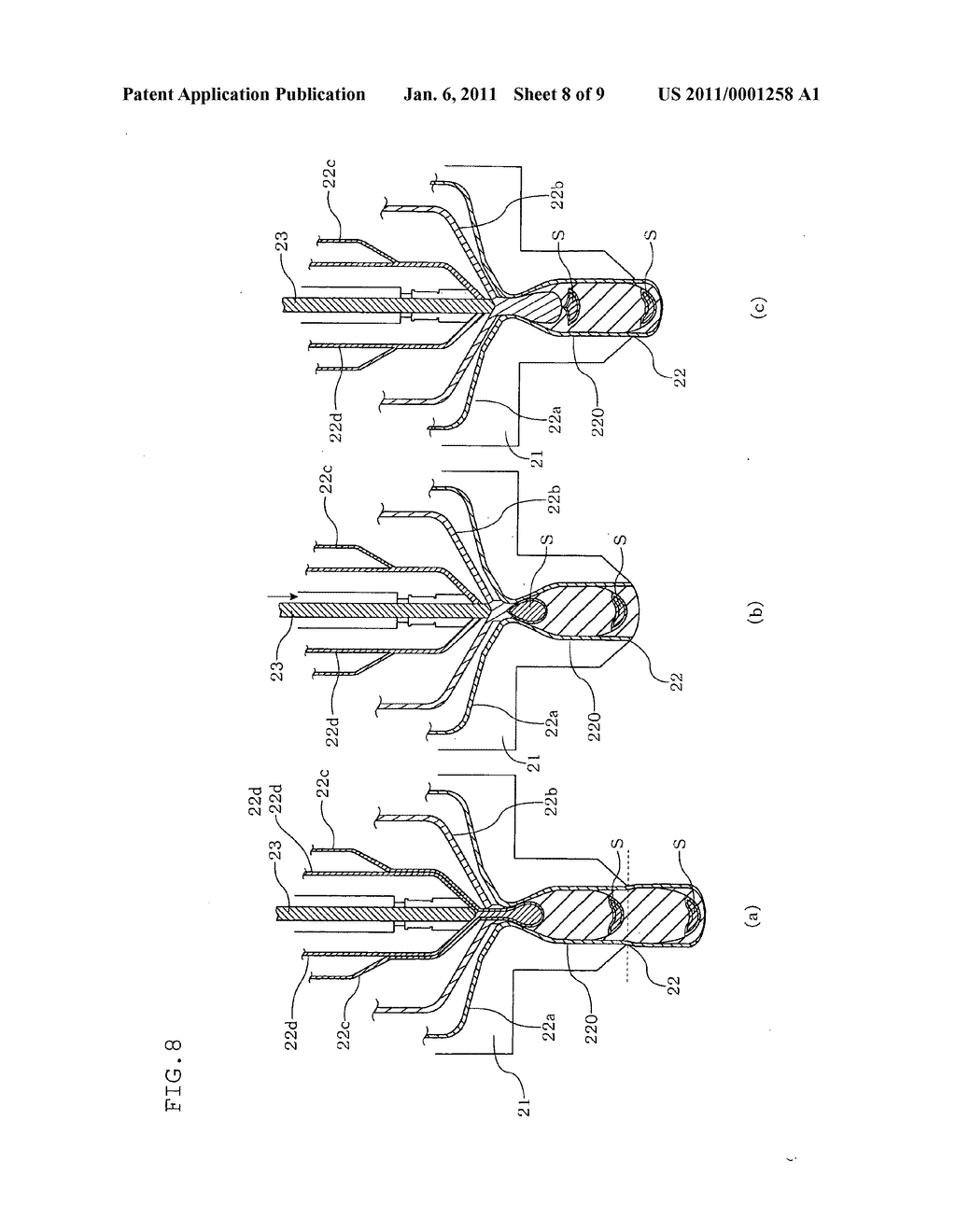MOLTEN RESIN SUPPLY METHOD, MOLTEN RESIN SUPPLY DEVICE, MOLTEN RESIN COMPRESSION MOLDING METHOD, MOLTEN RESIN COMPRESSION MOLDING DEVICE, AND SYNTHETIC RESIN CONTAINER MANUFACTURING METHOD - diagram, schematic, and image 09