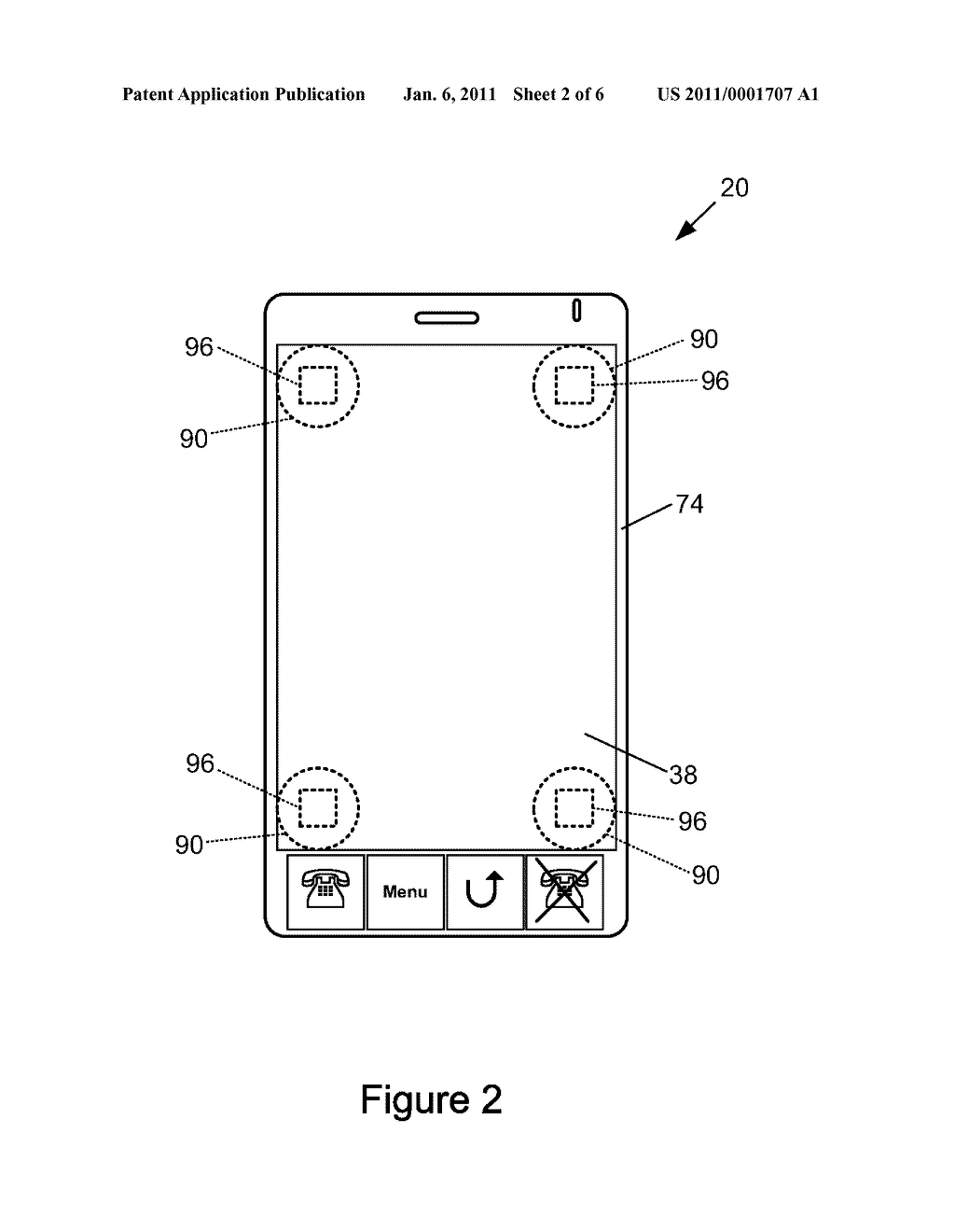 ELECTRONIC DEVICE INCLUDING A MOVEABLE TOUCH-SENSITIVE INPUT AND METHOD OF CONTROLLING SAME - diagram, schematic, and image 03