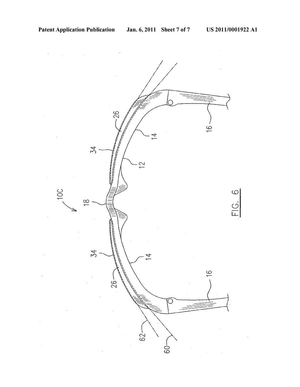 FLEXIBLE EYEWEAR FRAME WITH RIGID LENS RETAINER - diagram, schematic, and image 08