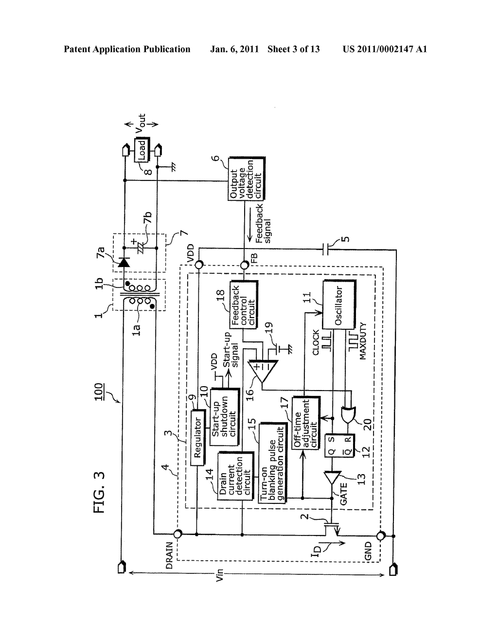SWITCHING POWER SUPPLY APPARATUS AND SEMICONDUCTOR DEVICE FOR SWITCHING POWER SUPPLY REGULATION - diagram, schematic, and image 04