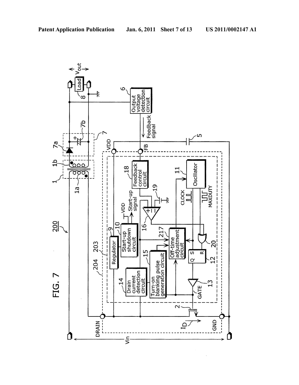 SWITCHING POWER SUPPLY APPARATUS AND SEMICONDUCTOR DEVICE FOR SWITCHING POWER SUPPLY REGULATION - diagram, schematic, and image 08