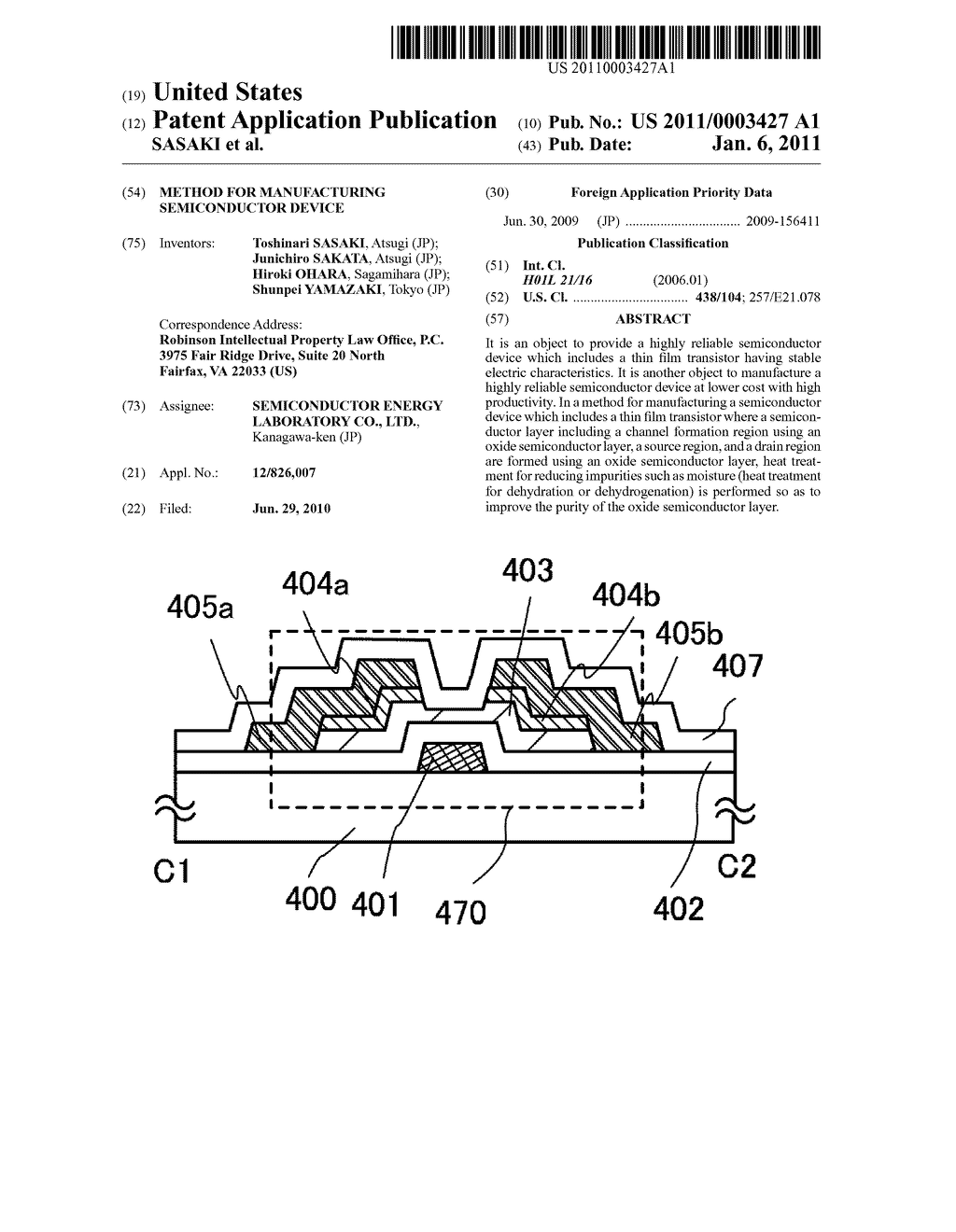 METHOD FOR MANUFACTURING SEMICONDUCTOR DEVICE - diagram, schematic, and image 01