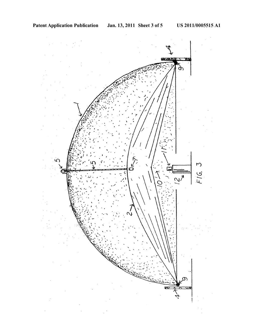 Solar half parabolic shell smelter with a heliostat on a turntable - diagram, schematic, and image 04