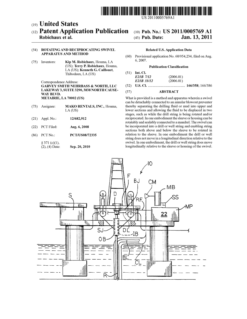 ROTATING AND RECIPROCATING SWIVEL APPARATUS AND METHOD - diagram, schematic, and image 01