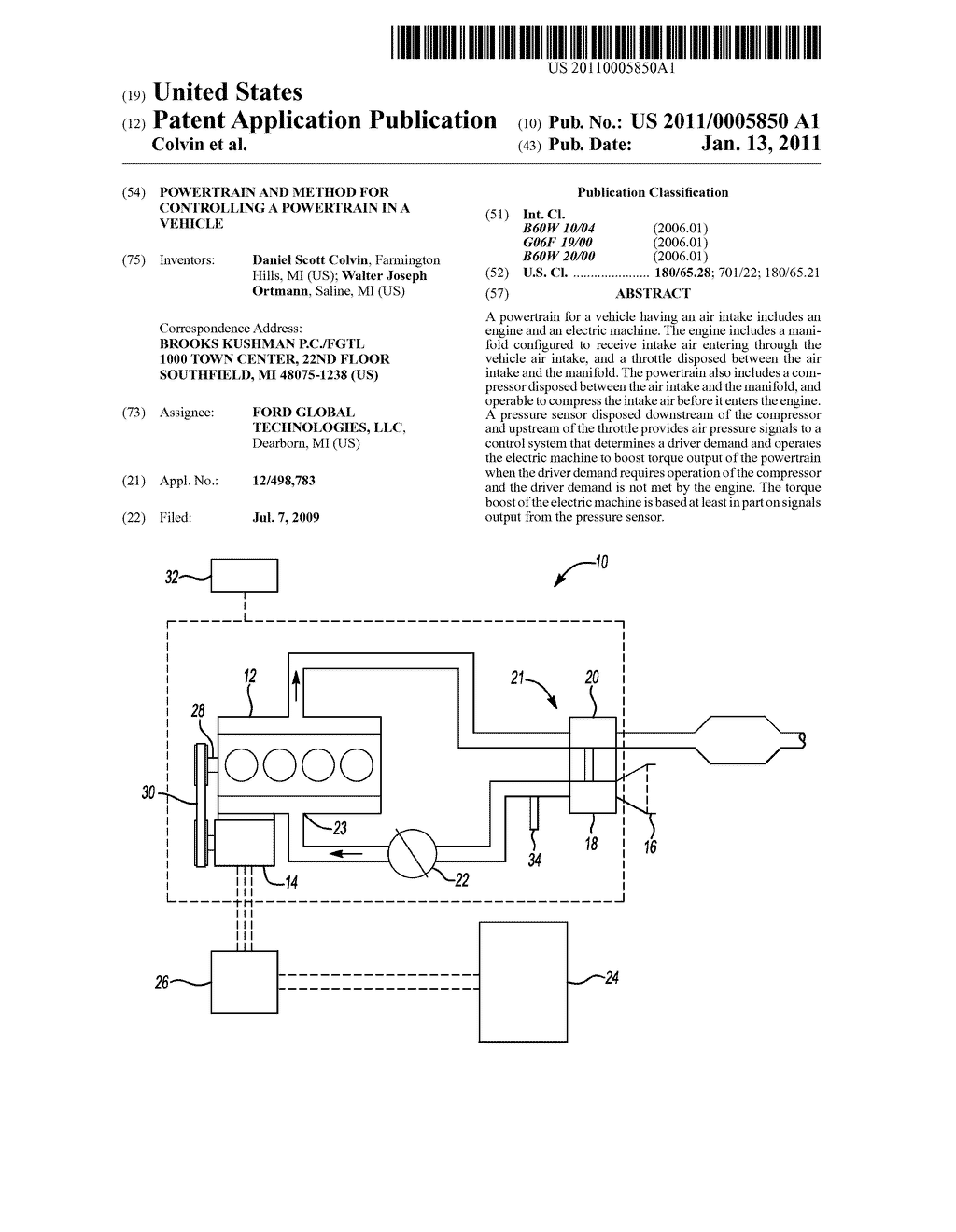 Powertrain And Method For Controlling A Powertrain In A Vehicle - diagram, schematic, and image 01