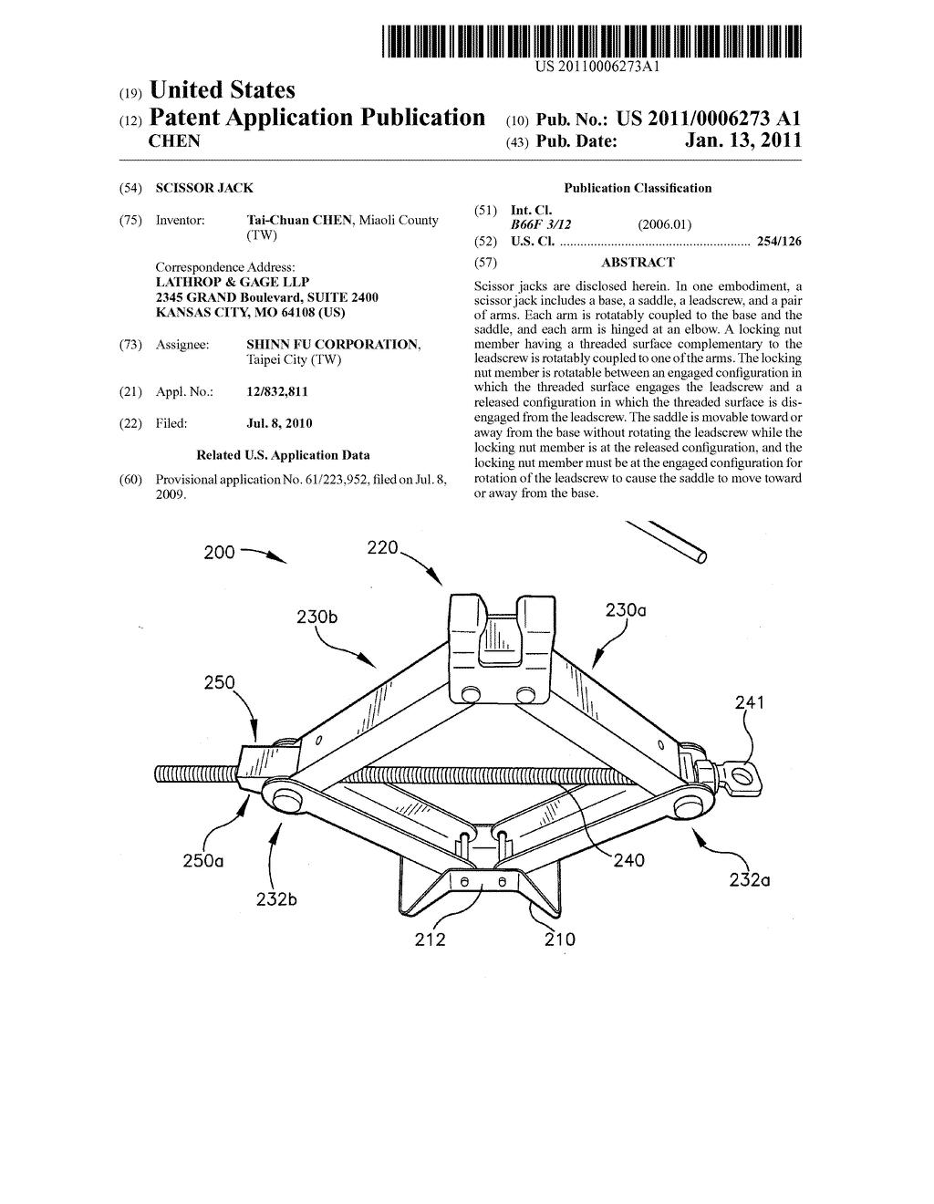 Scissor Jack - diagram, schematic, and image 01 on