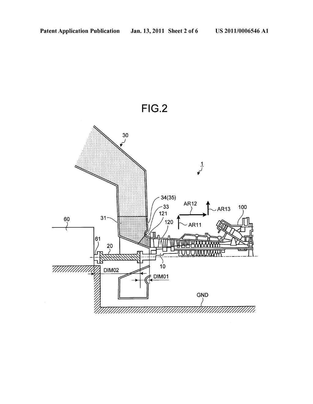 GAS TURBINE AND METHOD FOR MAINTAINING AND INSPECTING THE SAME - diagram, schematic, and image 03