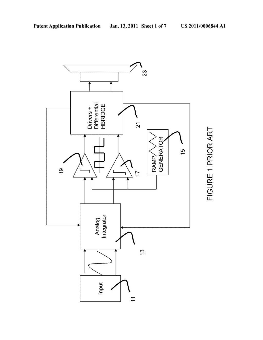 Class D Amplifier Control Circuit and Method - diagram, schematic, and image 02