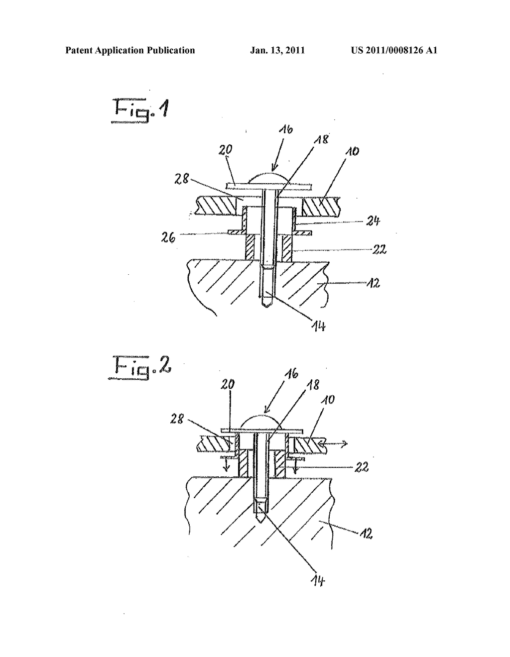 DEVICE FOR FASTENING PLASTIC PARTS TO A MOTOR VEHICLE BODY - diagram, schematic, and image 02