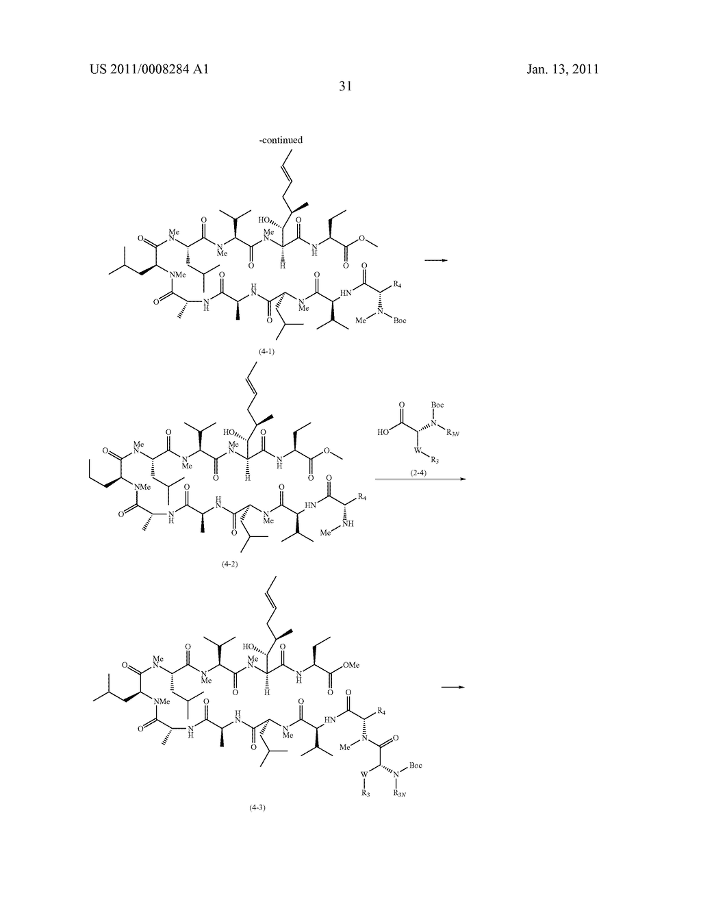 NOVEL CLYCLOSPORIN ANALOGUES - diagram, schematic, and image 32
