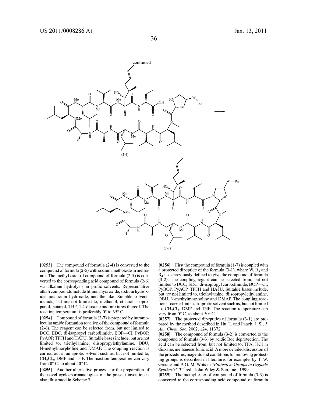 NOVEL PROLINE SUBSTITUTED CYCLOSPORIN ANALOGUES - diagram, schematic, and image 37