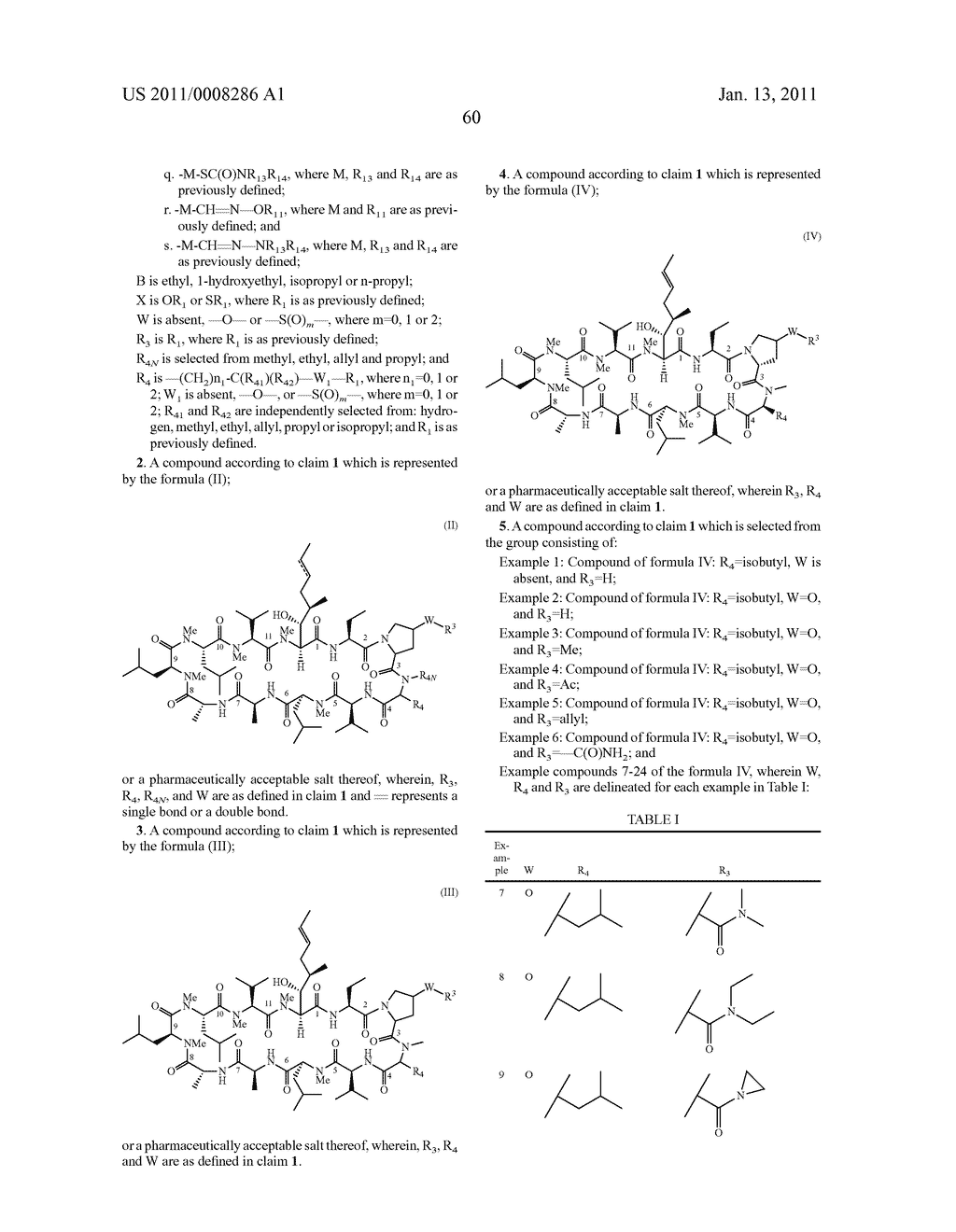 NOVEL PROLINE SUBSTITUTED CYCLOSPORIN ANALOGUES - diagram, schematic, and image 61