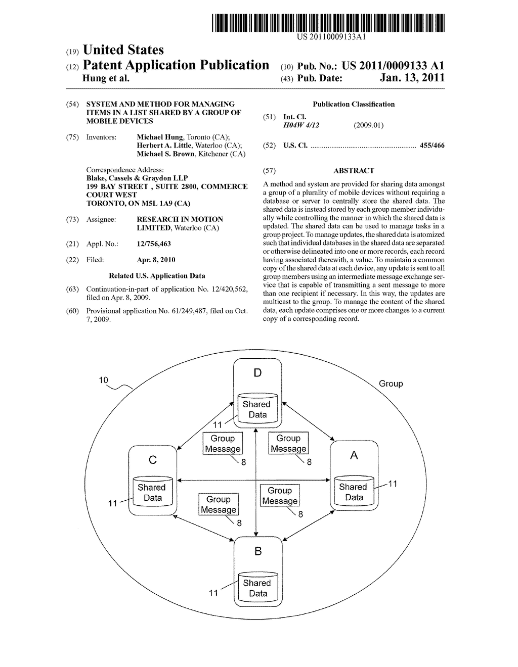 System and Method for Managing Items in a List Shared by a Group of Mobile Devices - diagram, schematic, and image 01