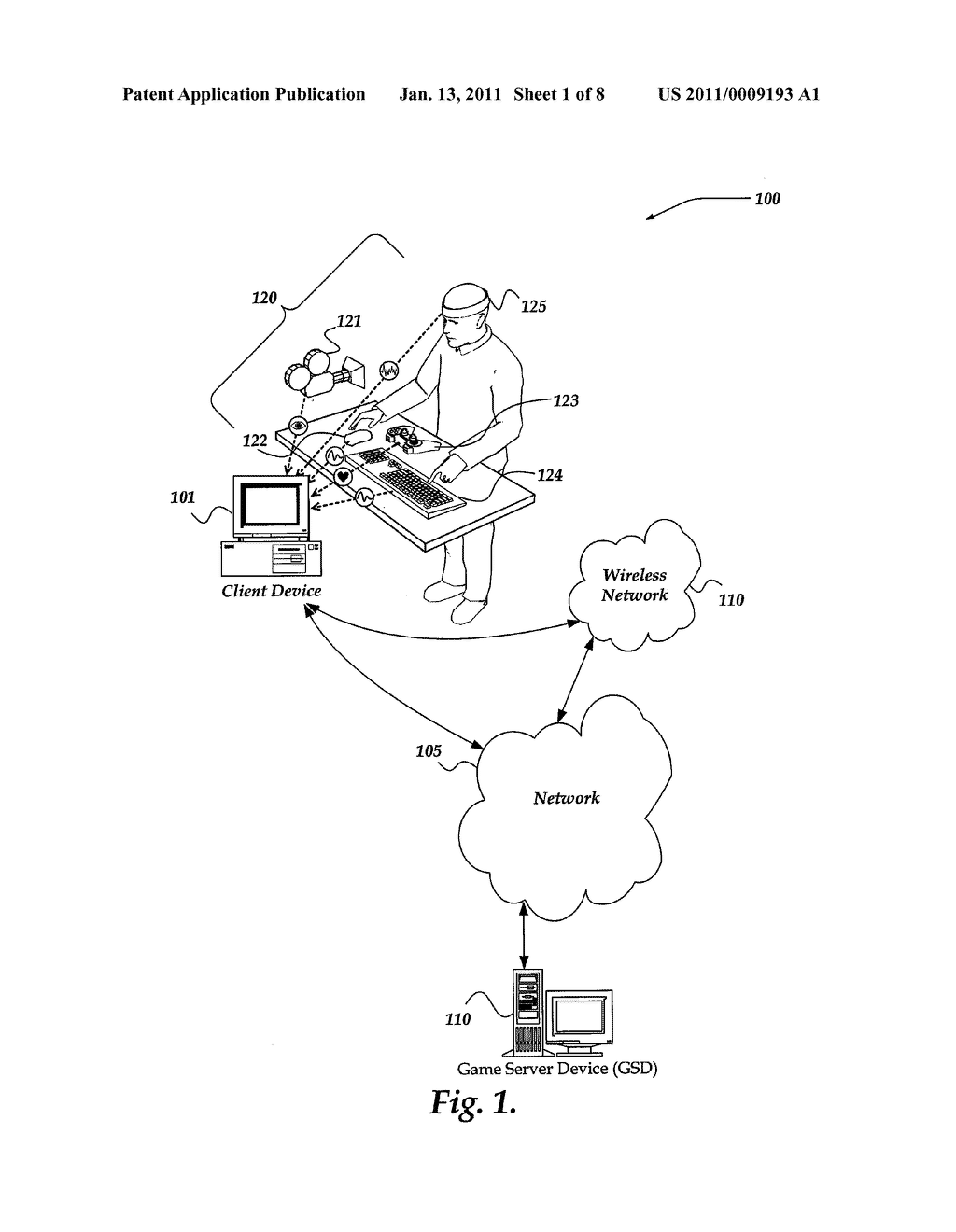 PLAYER BIOFEEDBACK FOR DYNAMICALLY CONTROLLING A VIDEO GAME STATE - diagram, schematic, and image 02