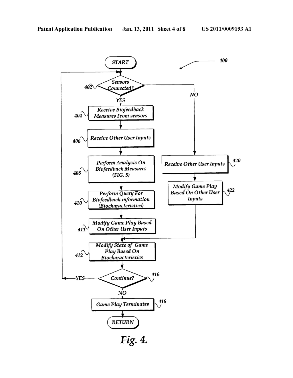PLAYER BIOFEEDBACK FOR DYNAMICALLY CONTROLLING A VIDEO GAME STATE - diagram, schematic, and image 05