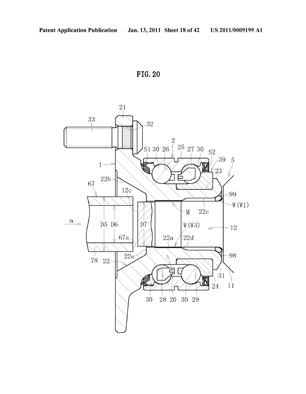 WHEEL BEARING APPARATUS AND AXLE MODULE - diagram, schematic, and image 19