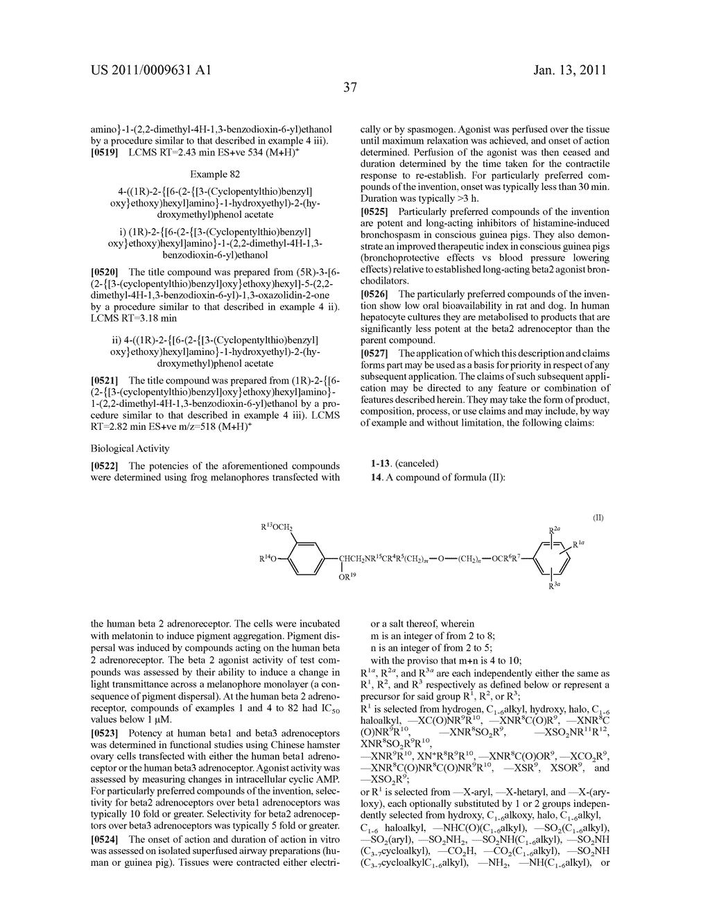Phenethanolamine Derivatives for Treatment of Respiratory Diseases - diagram, schematic, and image 40