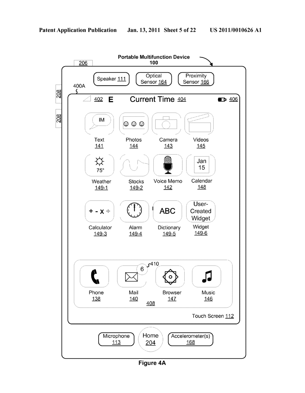 Device and Method for Adjusting a Playback Control with a Finger Gesture - diagram, schematic, and image 06