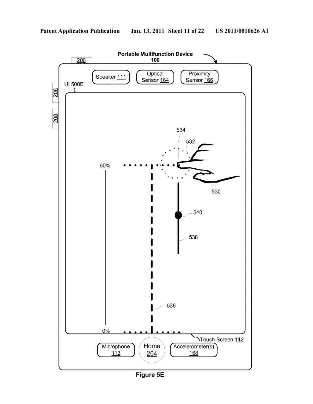Device and Method for Adjusting a Playback Control with a Finger Gesture - diagram, schematic, and image 12