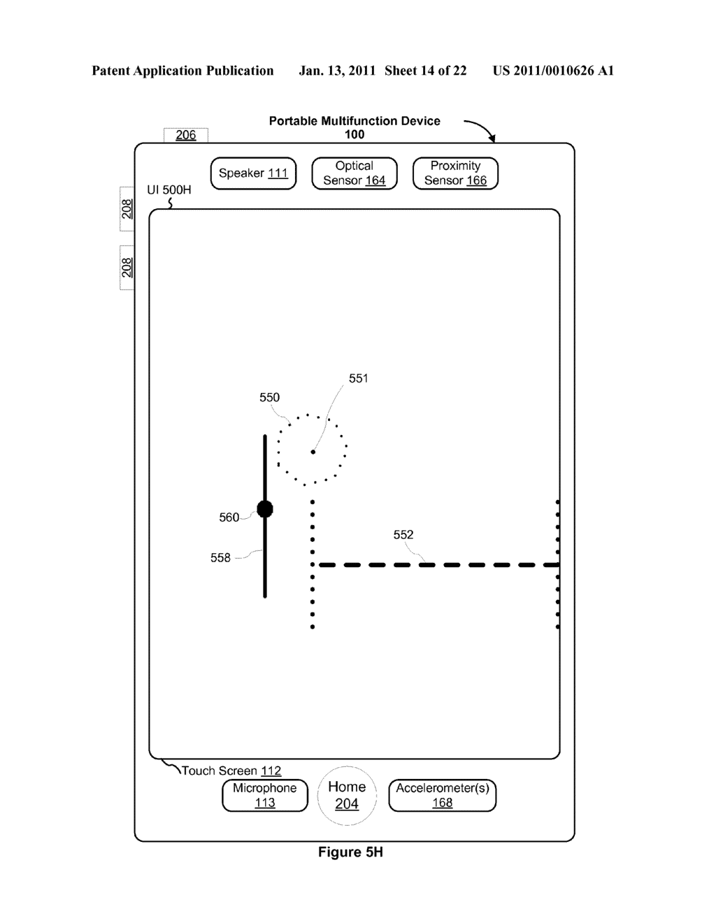 Device and Method for Adjusting a Playback Control with a Finger Gesture - diagram, schematic, and image 15