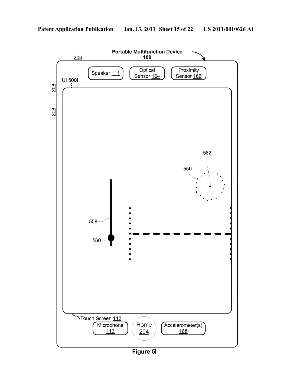 Device and Method for Adjusting a Playback Control with a Finger Gesture - diagram, schematic, and image 16