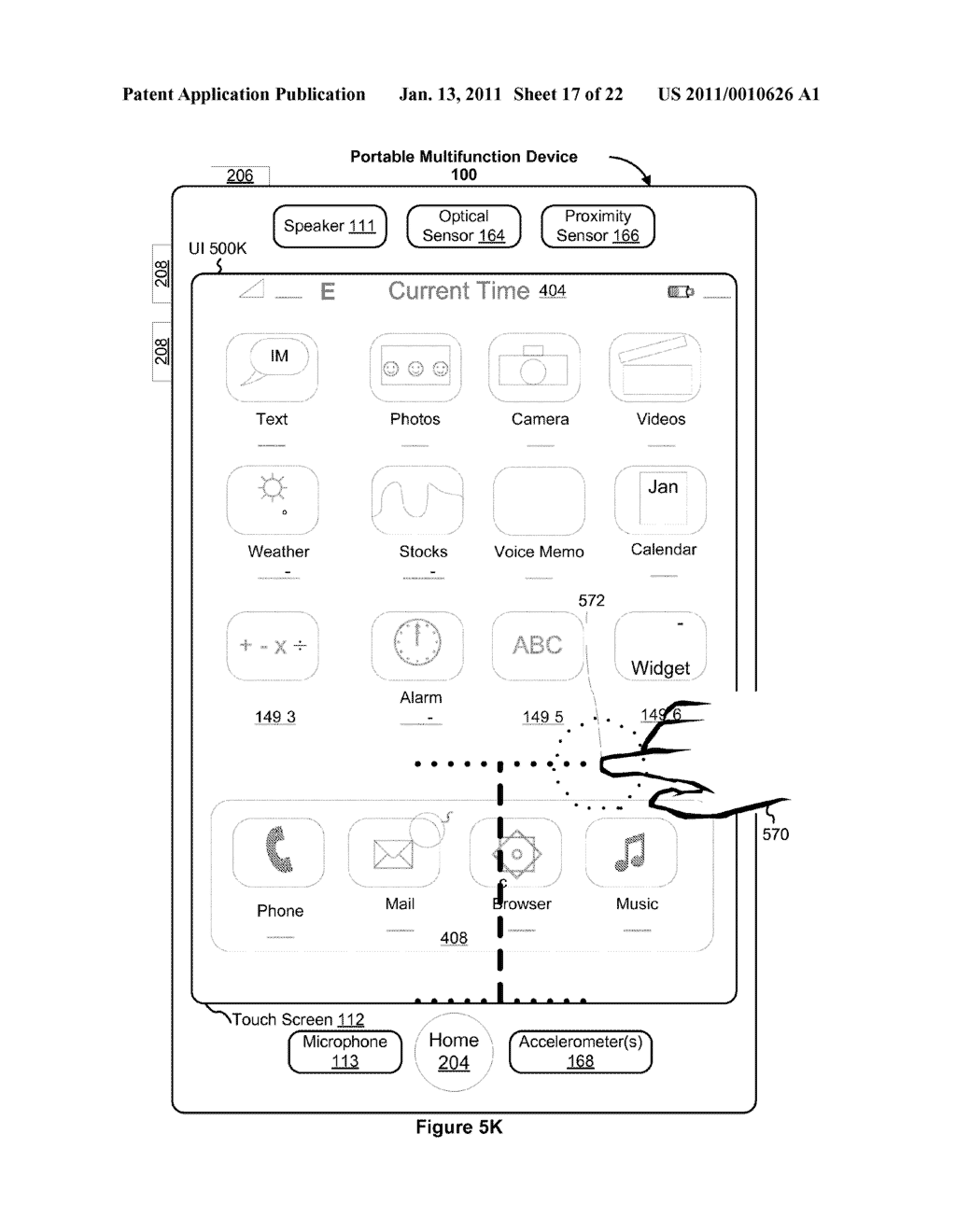 Device and Method for Adjusting a Playback Control with a Finger Gesture - diagram, schematic, and image 18