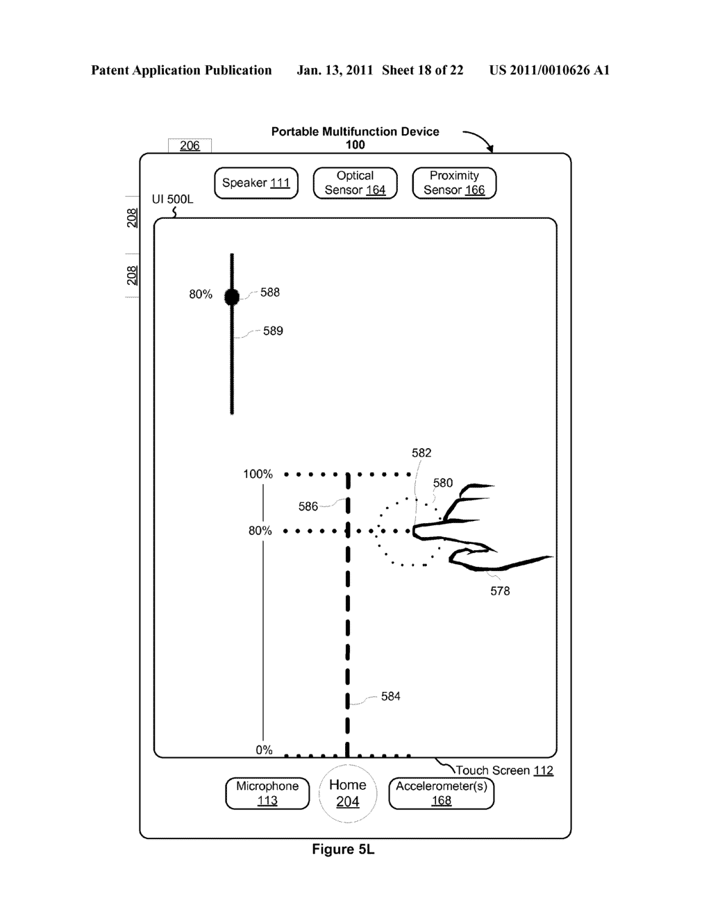 Device and Method for Adjusting a Playback Control with a Finger Gesture - diagram, schematic, and image 19