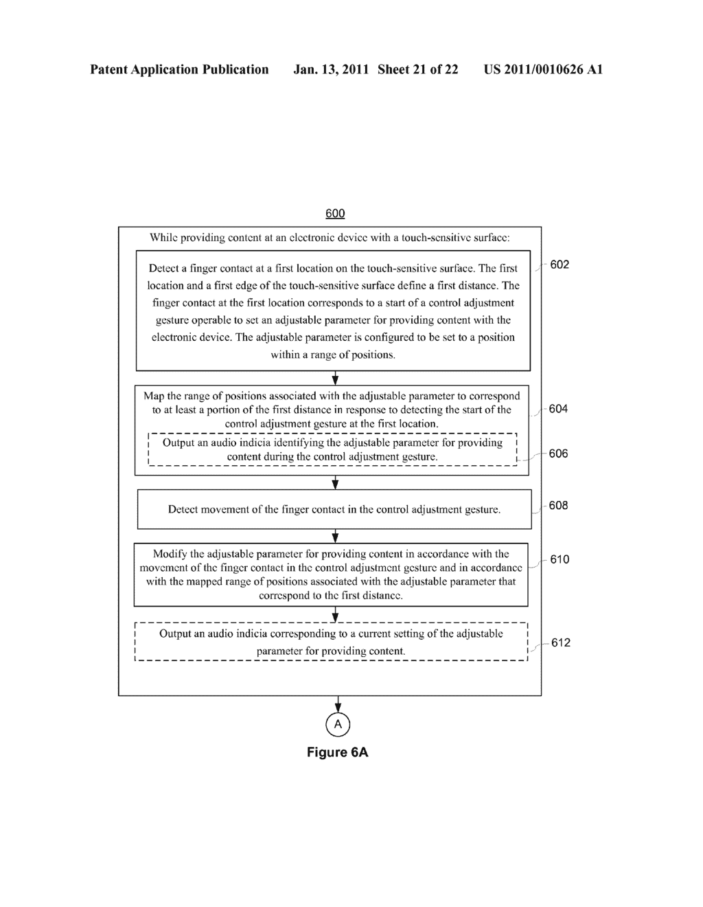 Device and Method for Adjusting a Playback Control with a Finger Gesture - diagram, schematic, and image 22