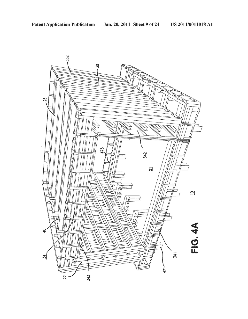 MODULAR CONSTRUCTION MOLD APPARATUS AND METHOD FOR CONSTRUCTING CONCRETE BUILDINGS AND STRUCTURES - diagram, schematic, and image 10