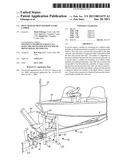 Boat trailer mounted bow entry ladder diagram and image