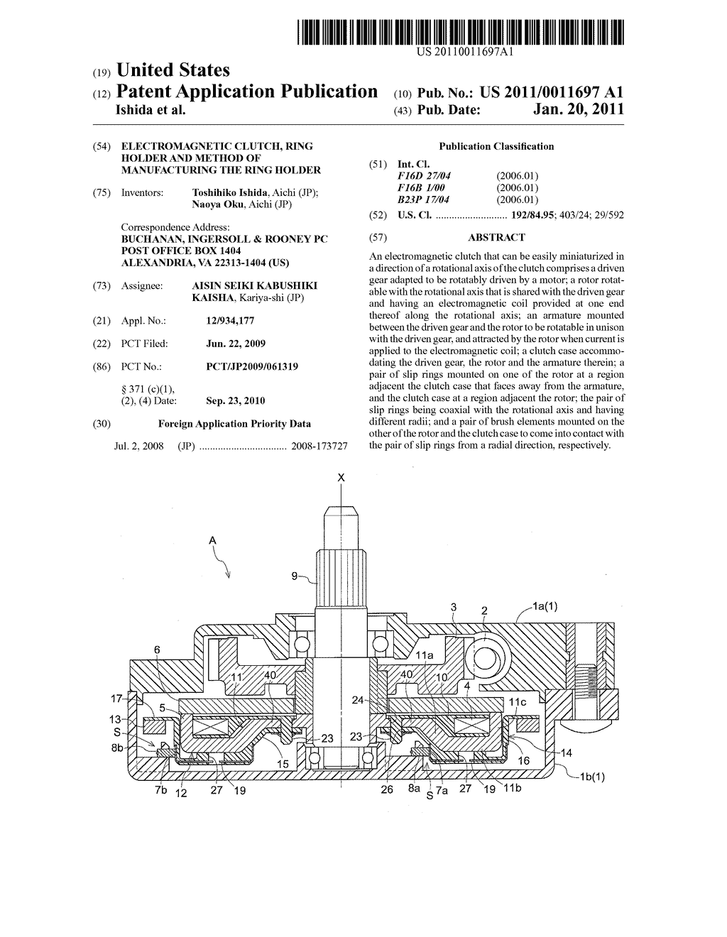 ELECTROMAGNETIC CLUTCH, RING HOLDER AND METHOD OF MANUFACTURING THE RING HOLDER - diagram, schematic, and image 01