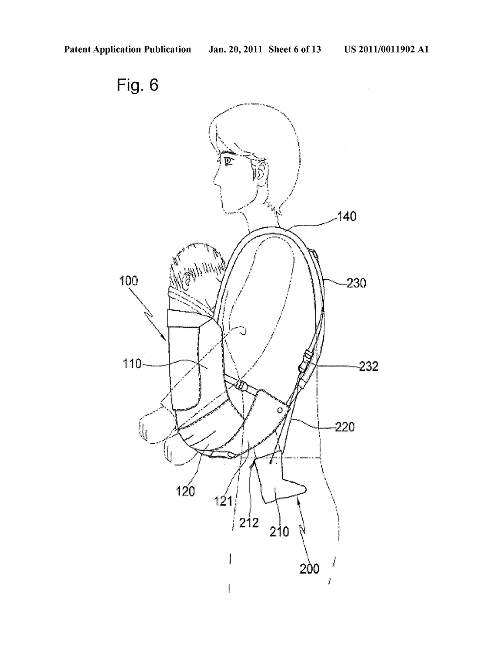 BABY SLING WITH FOOT SUPPORT SHOES - diagram, schematic, and image 07