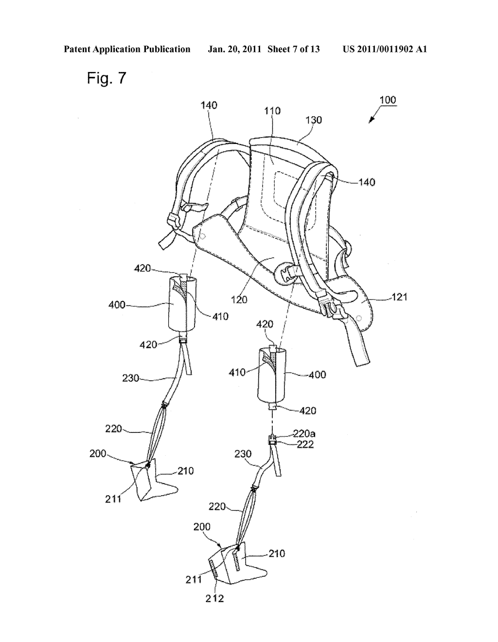 BABY SLING WITH FOOT SUPPORT SHOES - diagram, schematic, and image 08