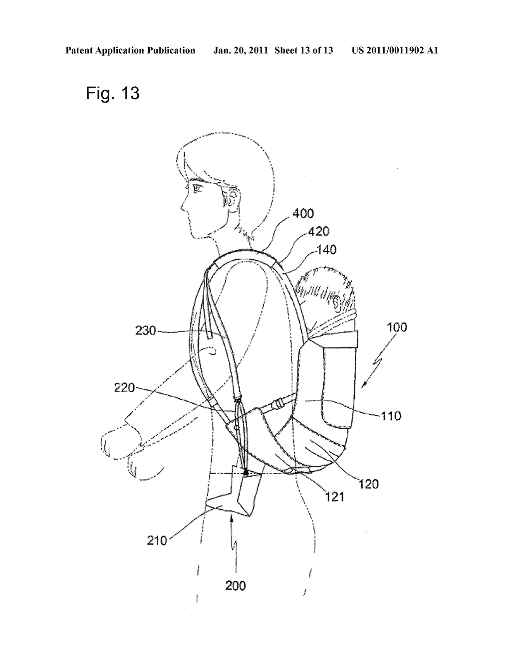 BABY SLING WITH FOOT SUPPORT SHOES - diagram, schematic, and image 14