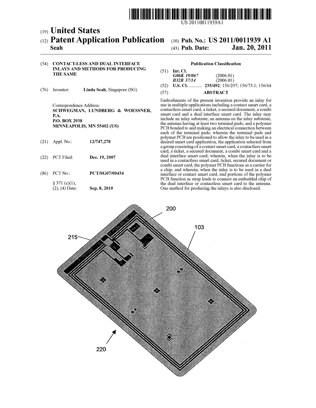 CONTACT-LESS AND DUAL INTERFACE INLAYS AND METHODS FOR PRODUCING THE SAME - diagram, schematic, and image 01