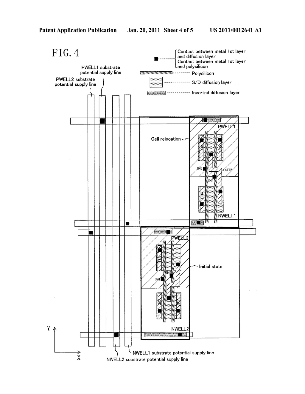 CELL ARRANGEMENT METHOD FOR DESIGNING SEMICONDUCTOR INTEGRATED CIRCUIT - diagram, schematic, and image 05