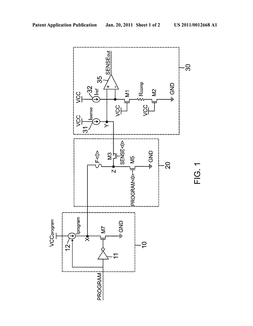 PROGRAMMABLE EFUSE AND SENSE CIRCUIT - diagram, schematic, and image 02