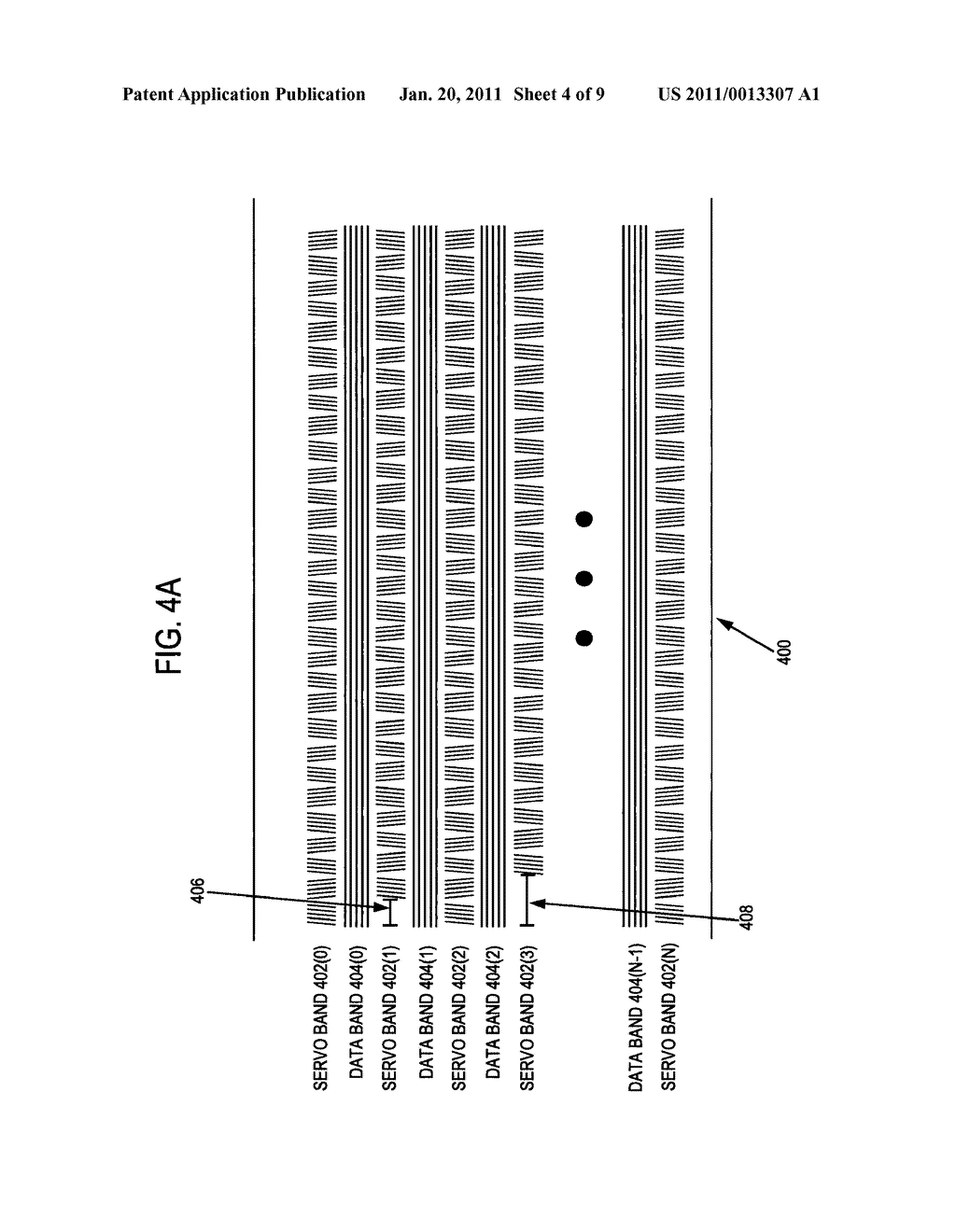 METHOD AND APPARATUS TO IDENTIFY A DATA BAND ENCODED BETWEEN TWO SERVO BANDS IN A SEQUENTIAL INFORMATION STORAGE MEDIUM - diagram, schematic, and image 05