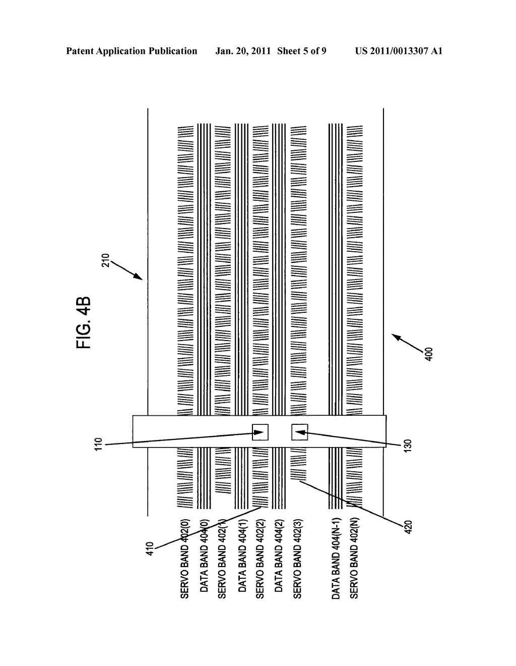METHOD AND APPARATUS TO IDENTIFY A DATA BAND ENCODED BETWEEN TWO SERVO BANDS IN A SEQUENTIAL INFORMATION STORAGE MEDIUM - diagram, schematic, and image 06