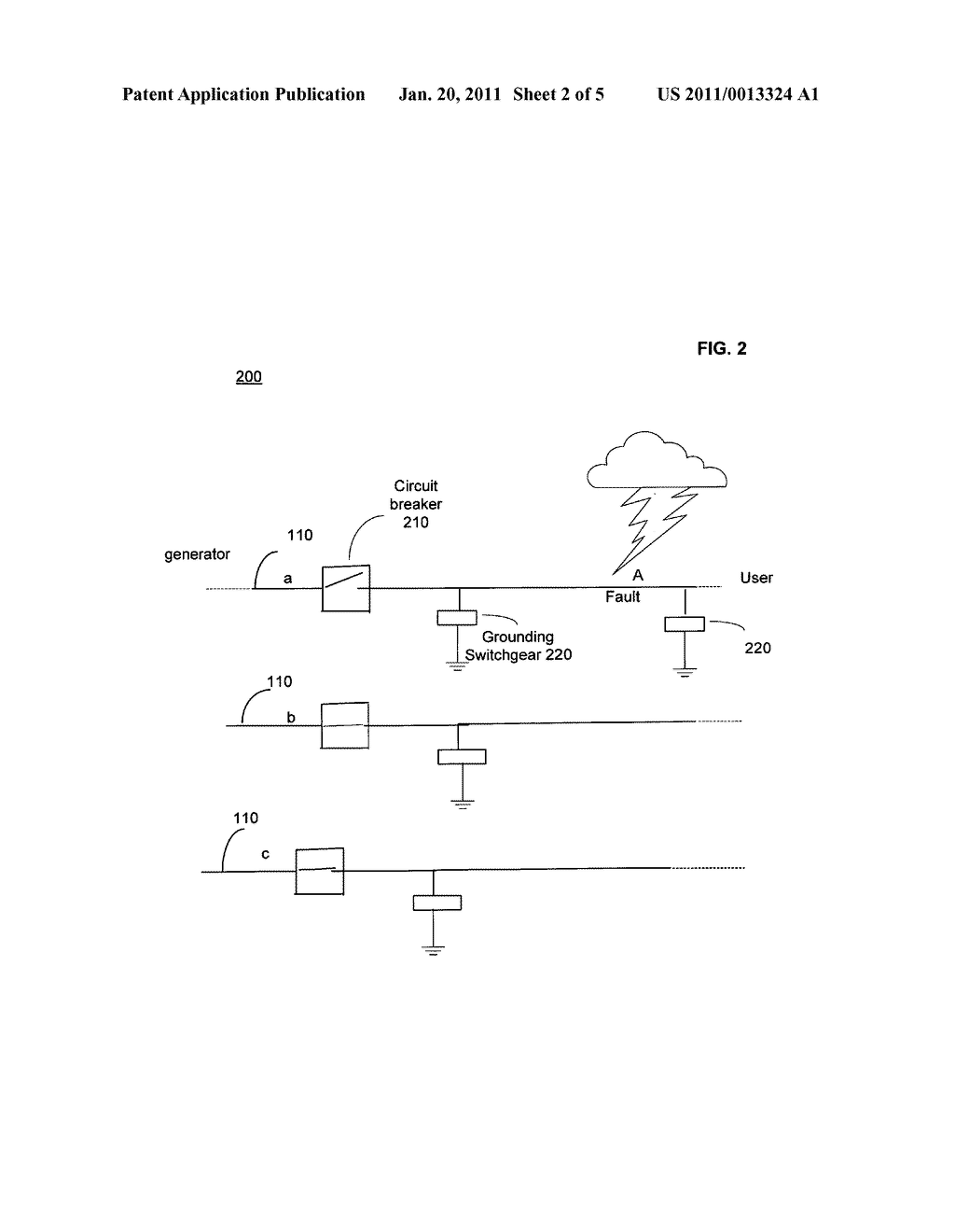 Systems and methods for grounding power line sections to clear faults - diagram, schematic, and image 03