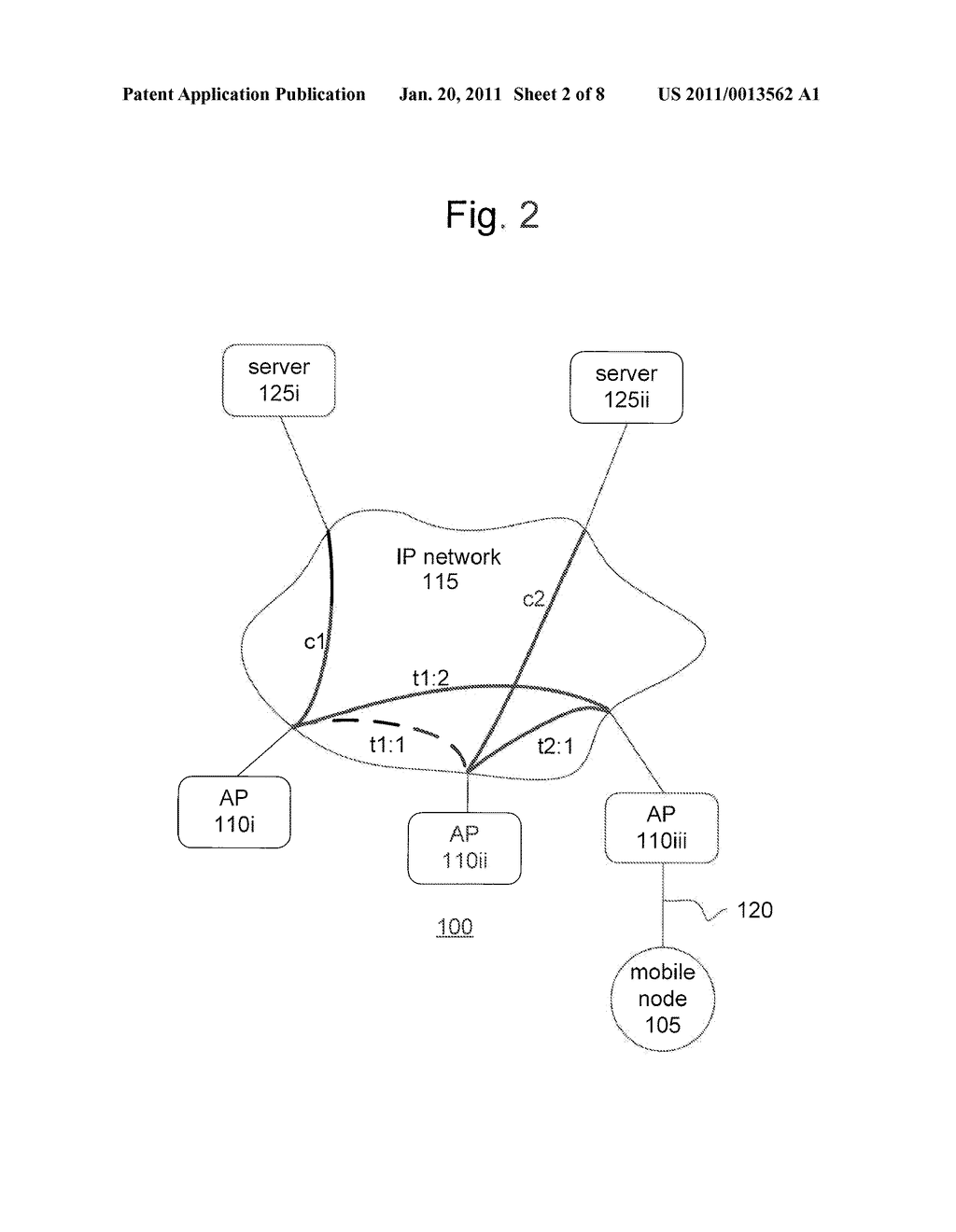 METHOD AND APPARATUS FOR PROVIDING MOBILITY TO A MOBILE NODE - diagram, schematic, and image 03