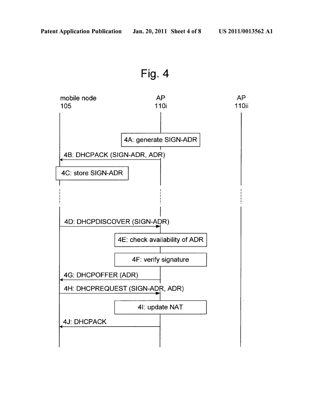 METHOD AND APPARATUS FOR PROVIDING MOBILITY TO A MOBILE NODE - diagram, schematic, and image 05
