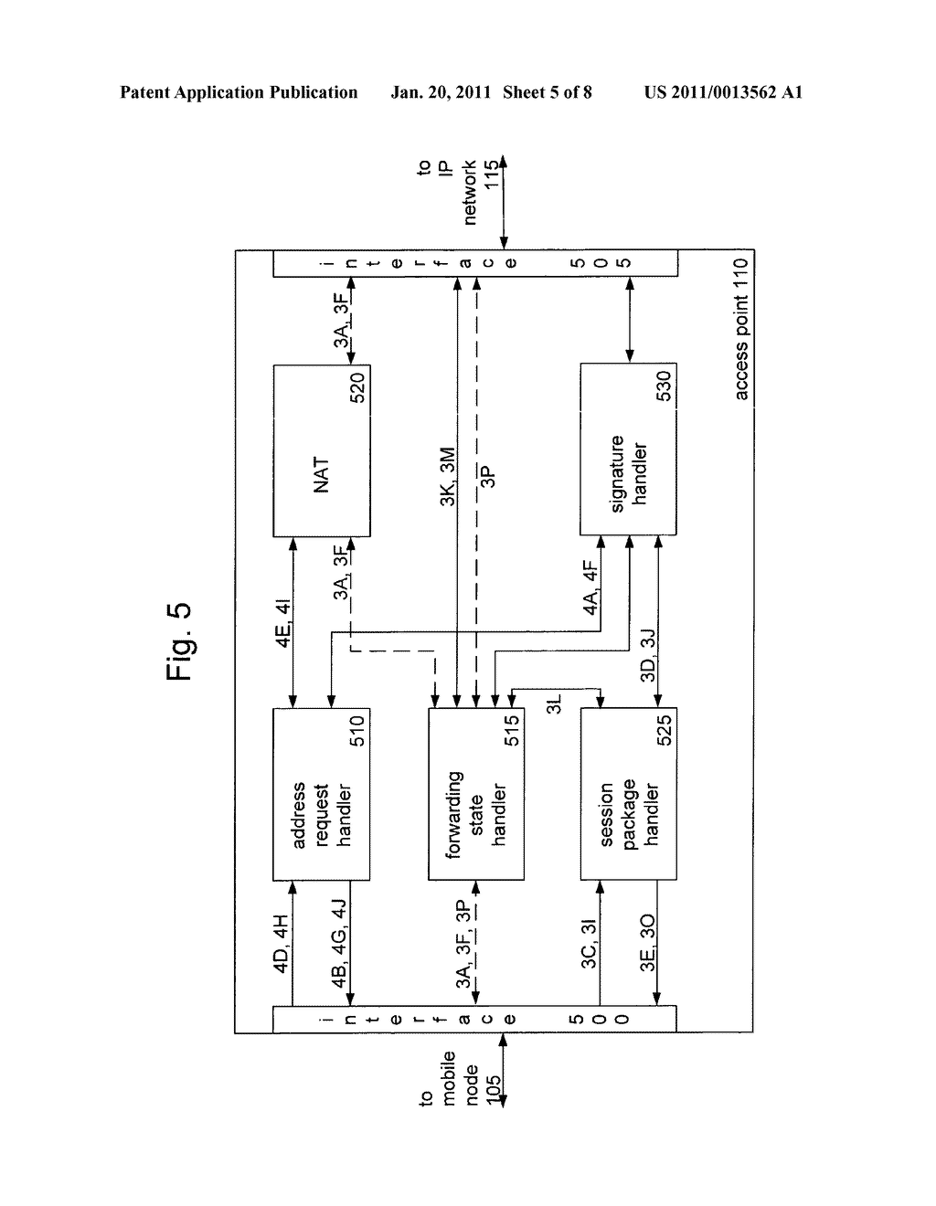 METHOD AND APPARATUS FOR PROVIDING MOBILITY TO A MOBILE NODE - diagram, schematic, and image 06