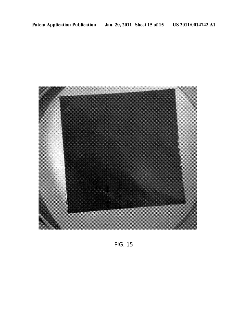 METHOD OF CREATING REUSABLE TEMPLATE FOR DETACHABLE THIN FILM SUBSTRATE - diagram, schematic, and image 16