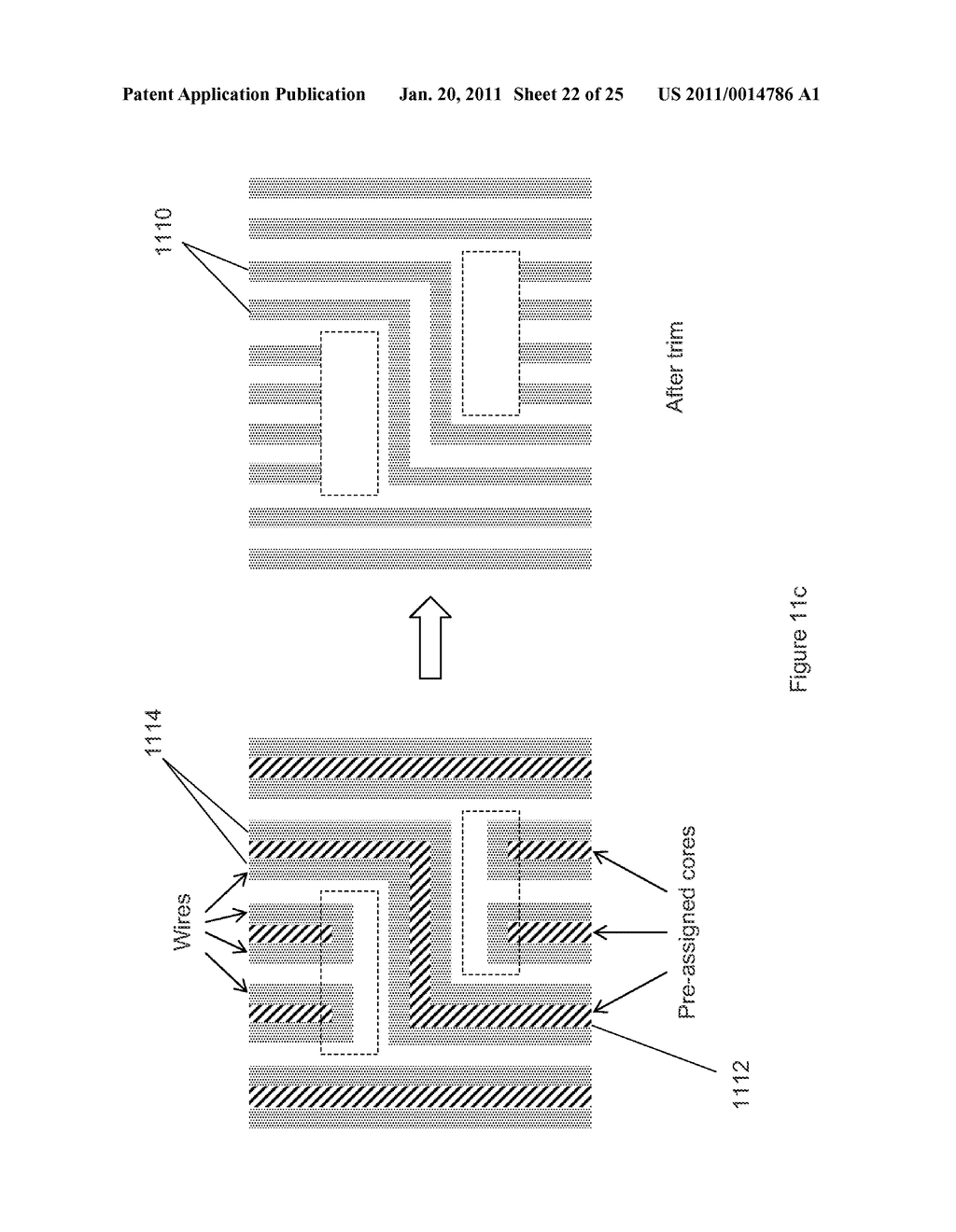 METHOD, SYSTEM, AND PROGRAM PRODUCT FOR ROUTING AN INTEGRATED CIRCUIT TO BE MANUFACTURED BY DOUBLED PATTERNING - diagram, schematic, and image 23