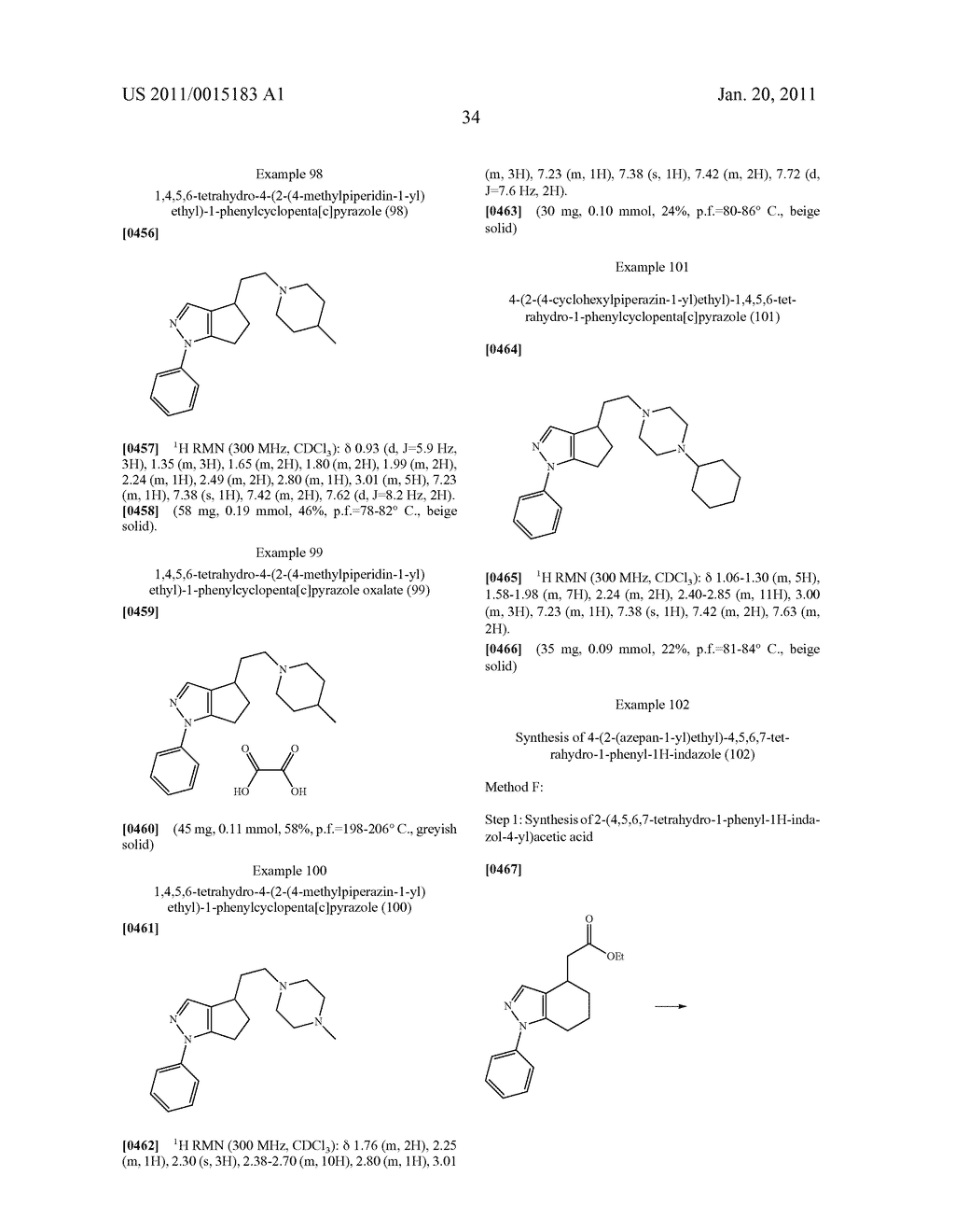SUBSTITUTED PYRAZOLE SIGMA RECEPTOR ANTAGONISTS - diagram, schematic, and image 37