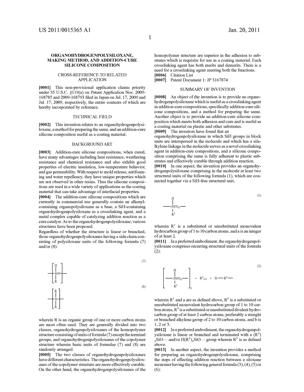ORGANOHYDROGENPOLYSILOXANE, MAKING METHOD, AND ADDITION-CURE SILICONE COMPOSITION - diagram, schematic, and image 02