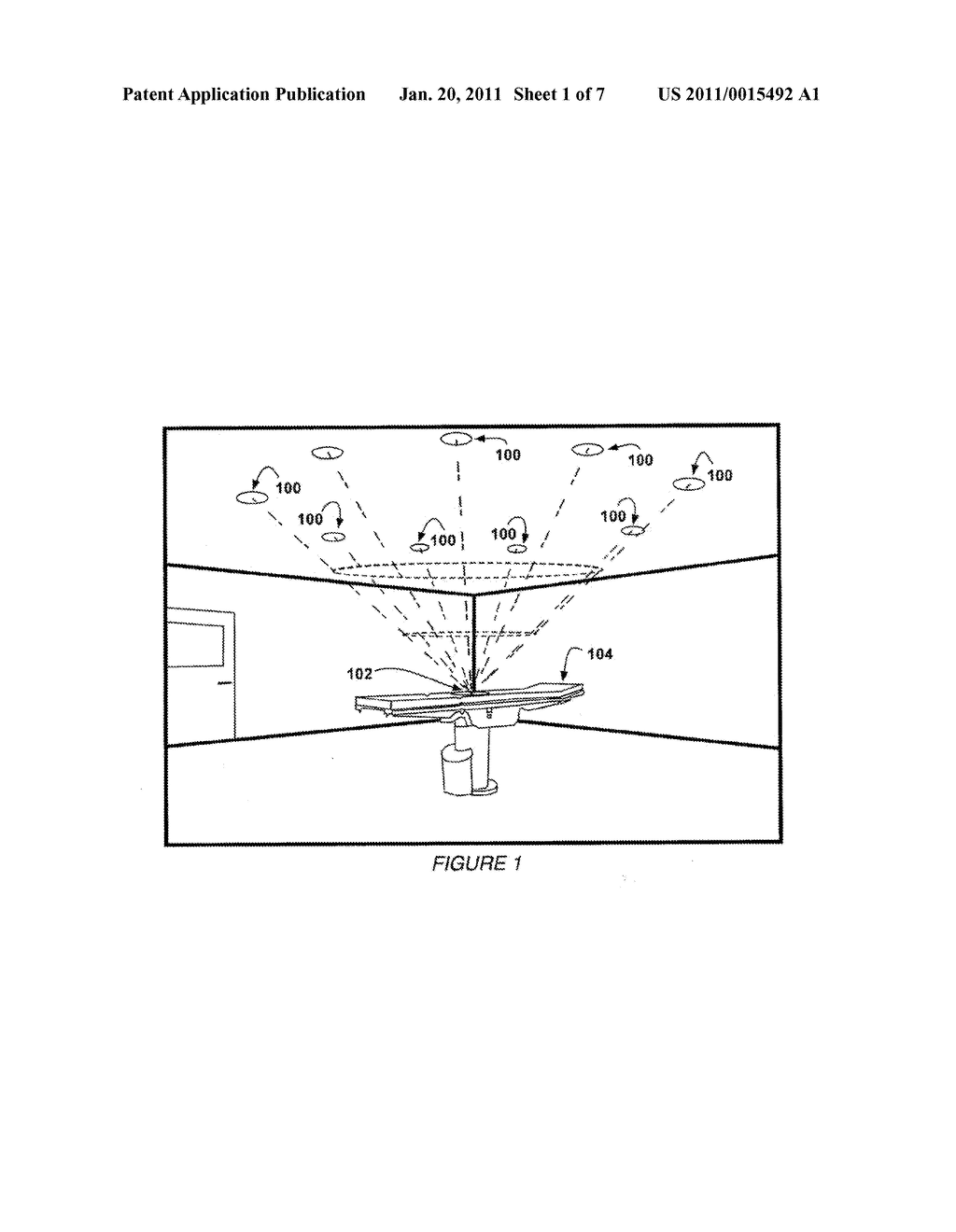 In-Ceiling Focus Located Surgical Lighting - diagram, schematic, and image 02