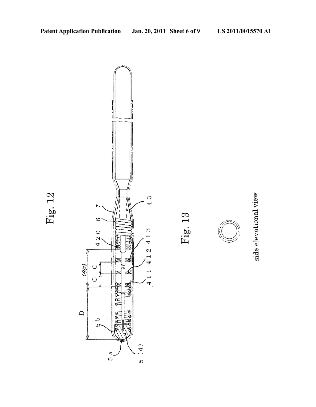 MEDICAL GUIDE WIRE, METHOD OF MAKING THE SAME , AND ASSEMBLY OF BALLOON CATHETER AND GUIDING CATHETER COMBINED WITH THE MEDICAL GUIDE WIRE - diagram, schematic, and image 07