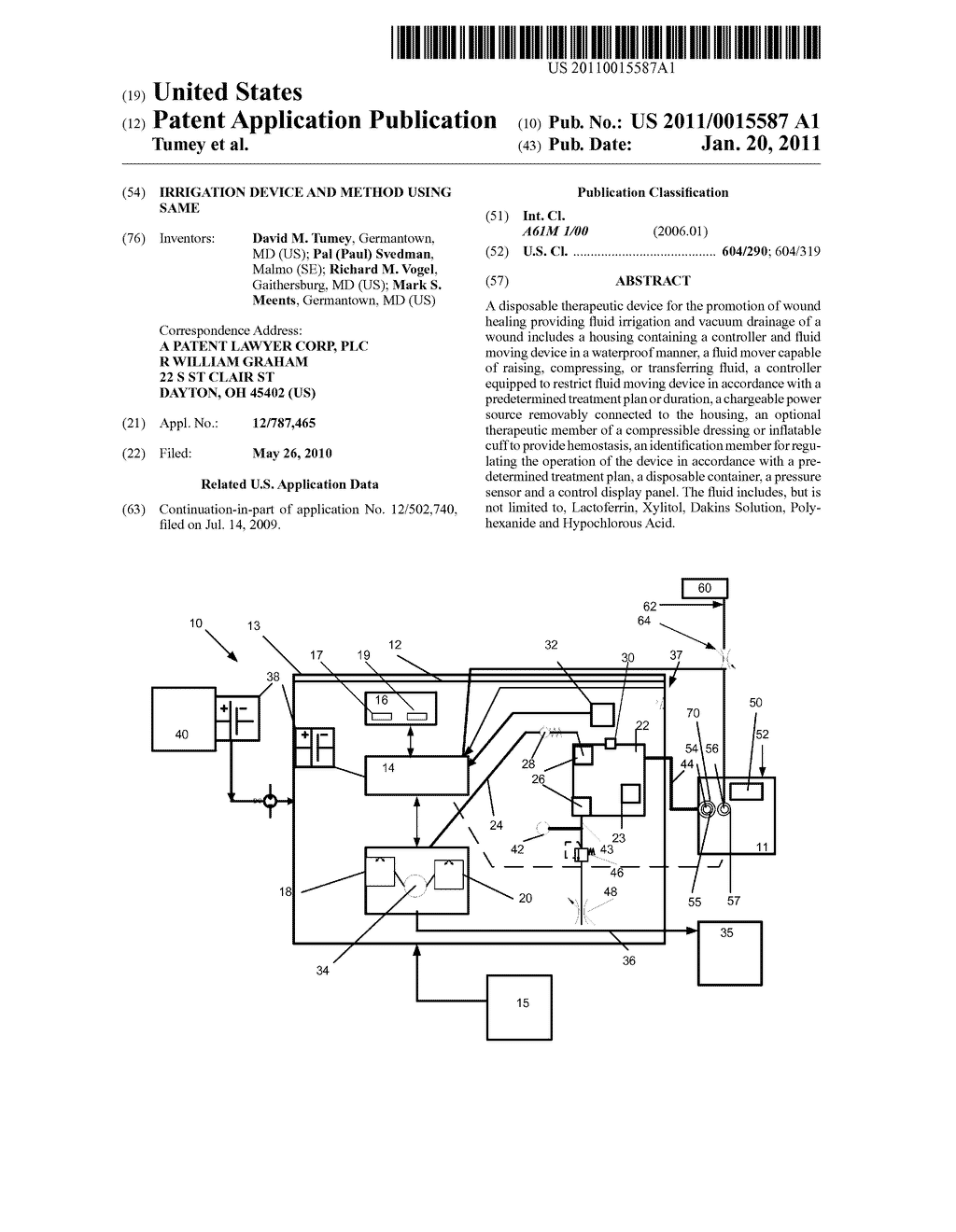 Irrigation Device and Method Using Same - diagram, schematic, and image 01